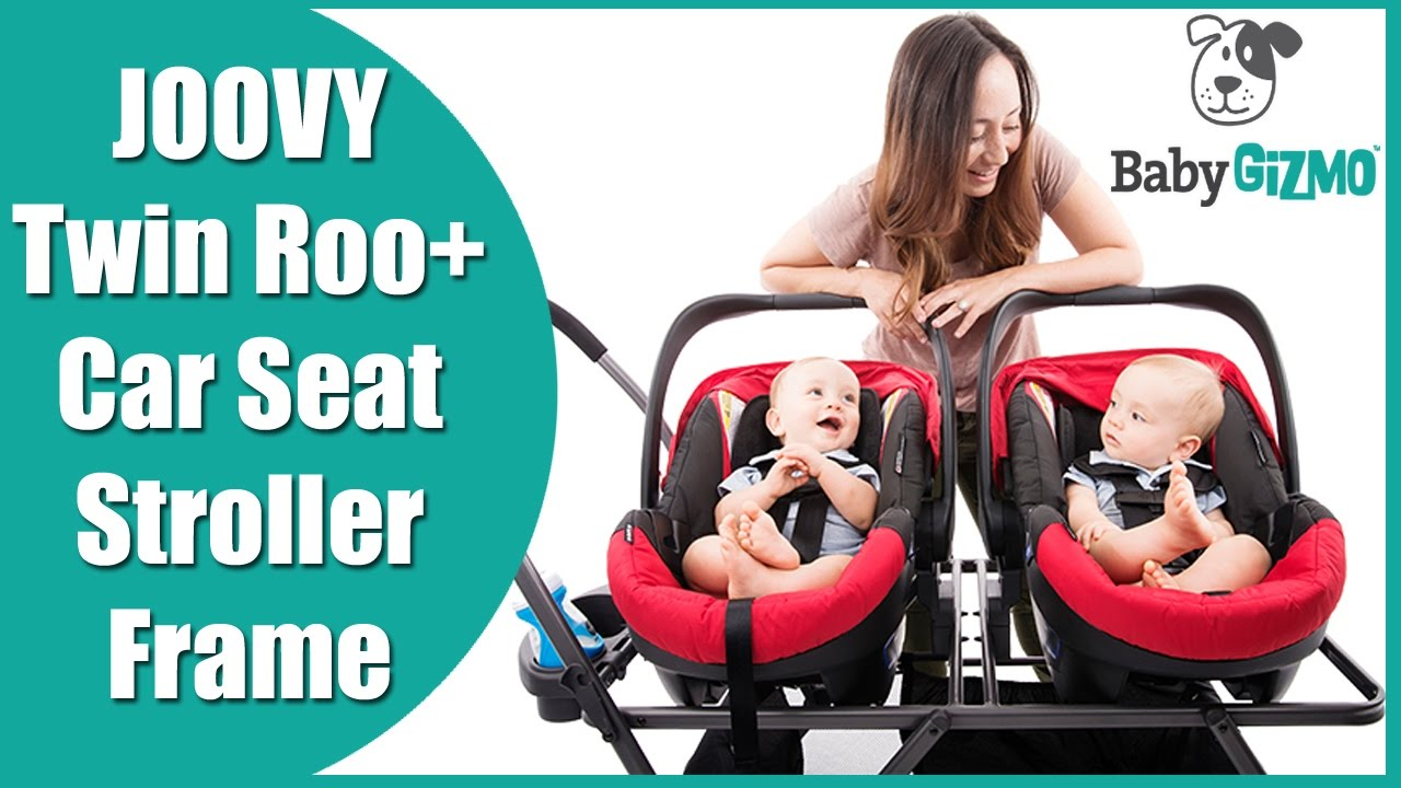 Joovy Twin Roo+ Double Infant Car Seat Frame Stroller ...