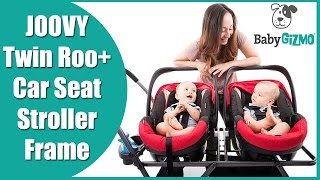 Joovy Twin Roo+ Double Infant Car Seat Frame Stroller Review