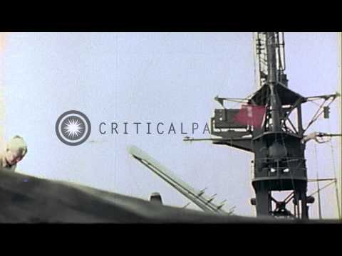 Views of Guam at the end of World War II. HD Stock Footage