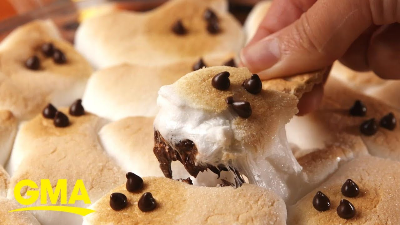 Chocolatey-ghost smores dip will wow your kids this Halloween l GMA Digital