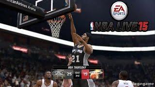 NBA Live 15 - San Antonio Spurs vs Miami Heat Gameplay - CPU vs CPU - Full Game [ HD ]