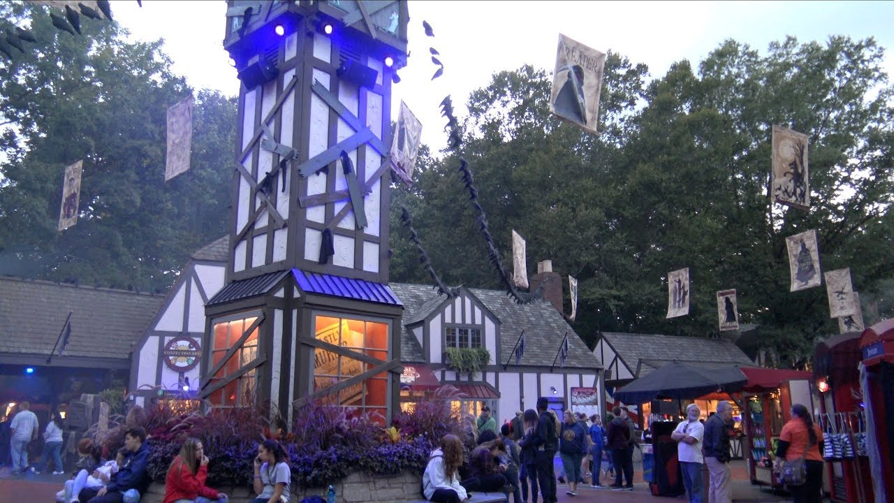 Busch gardens williamsburg howl o scream 2017 4k vlog - Busch gardens williamsburg halloween ...