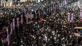VOA连线(海彦):全港反送中联席国际人权日集会