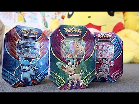 Opening The Evolution Celebration Tins (Sylveon, Leafeon, Glaceon)