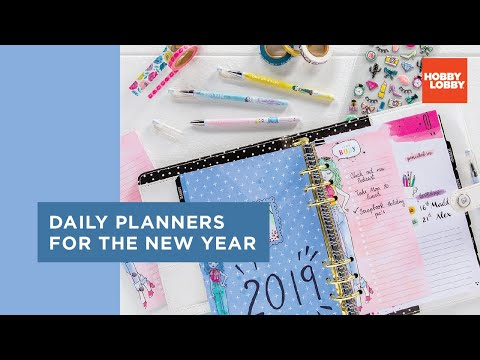 Daily Planners for the New Year | Hobby Lobby®