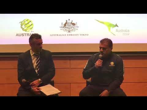 "Soccer: Australia boss Postecoglou tells Japan to ""bring it on"""