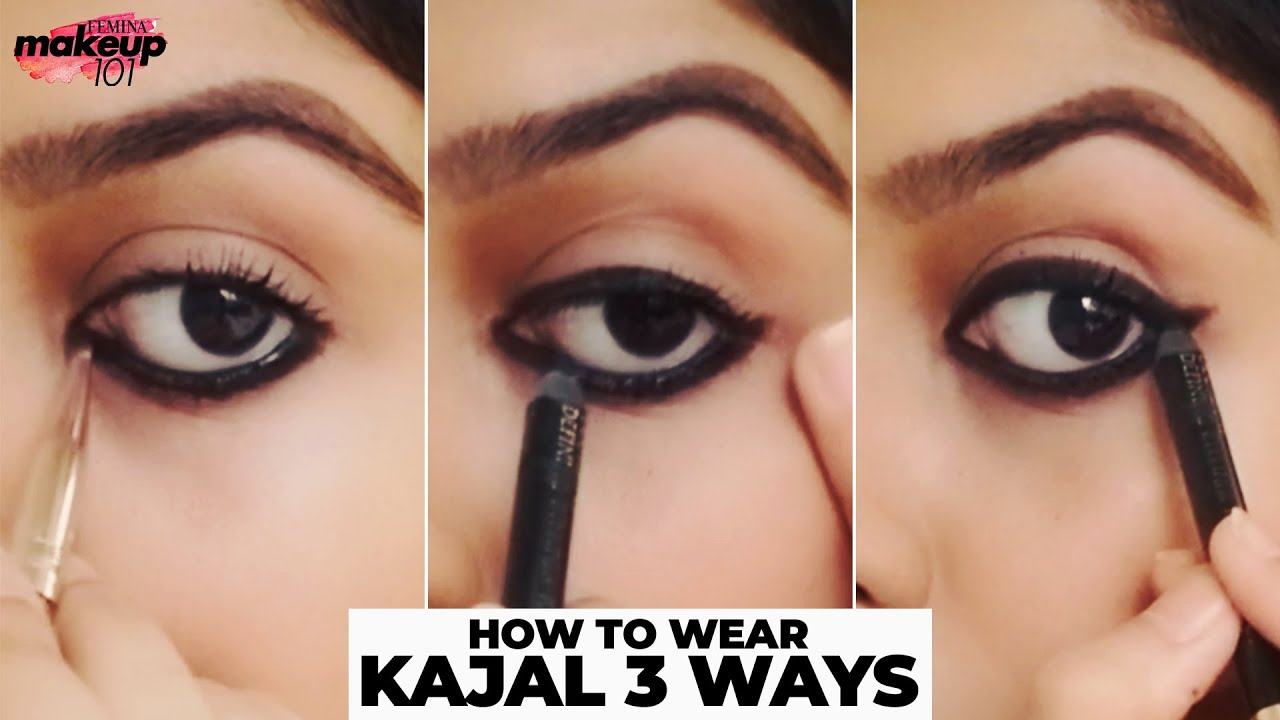 10 Eye Looks Using Kajal  How To Apply Kajal In 10 Ways  Eye Makeup  Tutorial  Makeup 10  Femina