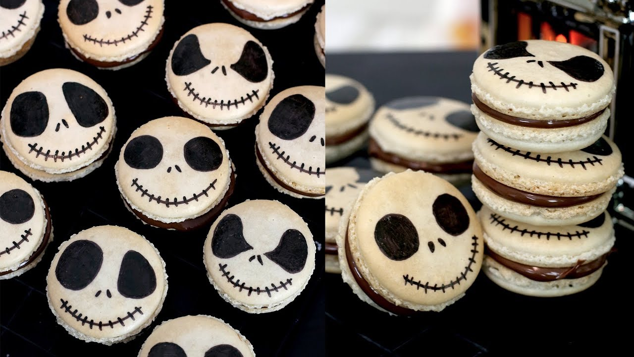 How to Make Jack Skellington Macarons from The Nightmare Before Christmas | RECIPE