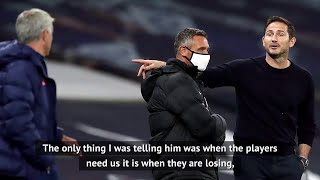 Mourinho reveals advice given to Lampard during touchline row