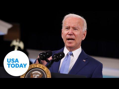 President Joe Biden remarks on global transportation supply chain bottlenecks | USA TODAY