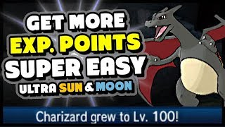 TOP 5 WAYS TO LEVEL UP FASTER IN POKEMON ULTRA SUN AND MOON - Get More EXP Easily!