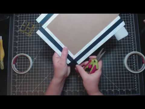 Lay flat binding tutorial and preview of the Accolade collection by Authentique