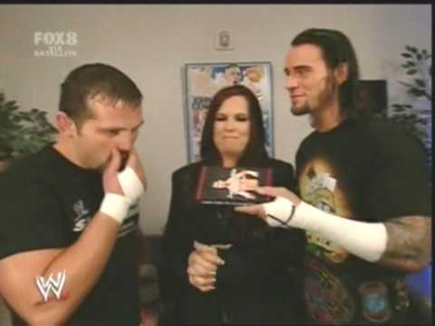 CM Punk with Vickie Guerrero and Jamie Noble Backstage