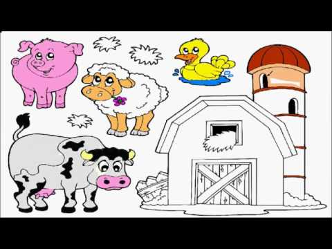 farm animals coloring pages for kids to learn to color pig barn sheep cow duck coloring book. Black Bedroom Furniture Sets. Home Design Ideas