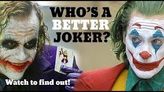 Who's A Better Joker: Joaquin Phoenix or Heath Ledger? Answer in video.