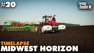 Midwest Horizon Timelapse #20 Cotton, Corn & Lime Farming Simulator 19