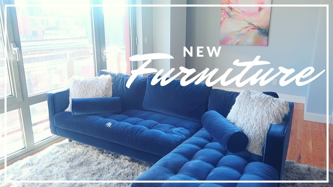 MOVING TO NYC #3 NEW FURNITURE - YouTube