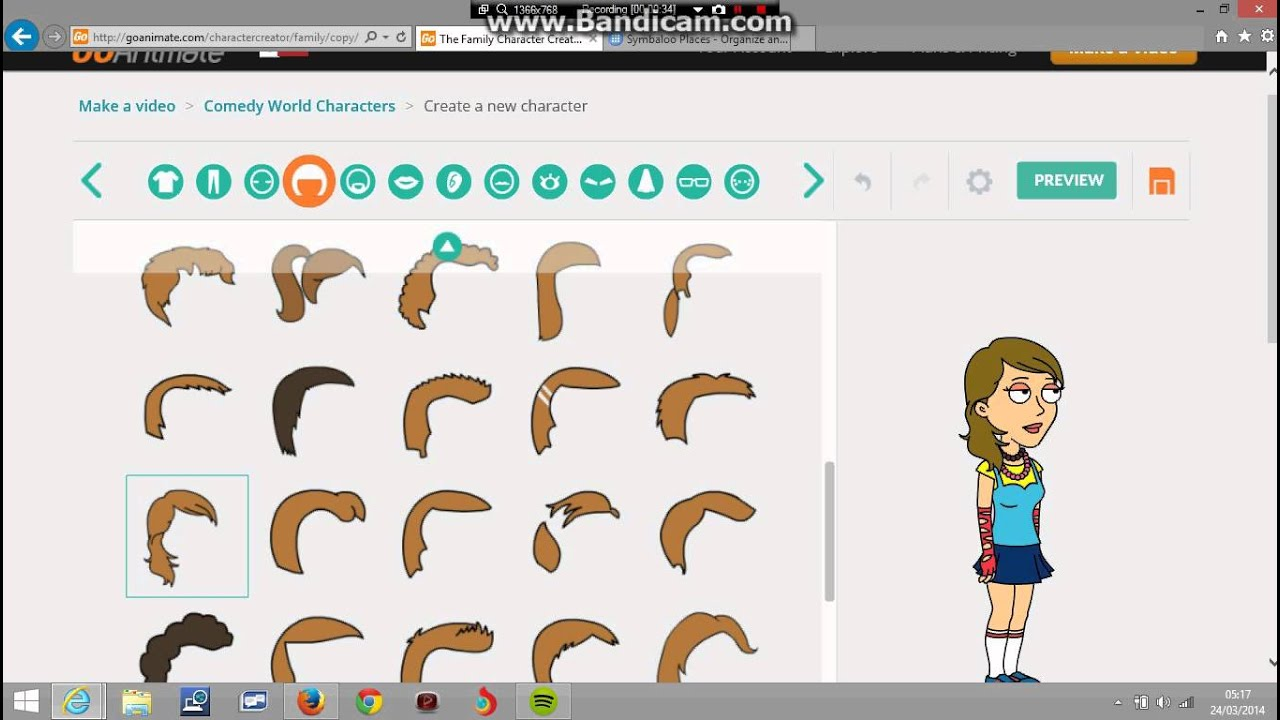 how to make zoey on goanimate