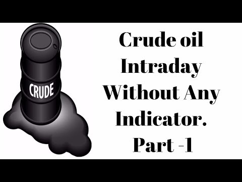 Crude oil Intraday - No indicator very Easy Strategy Part 1