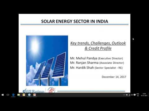 CARE Ratings live Webinar on Indian Solar Energy Sector