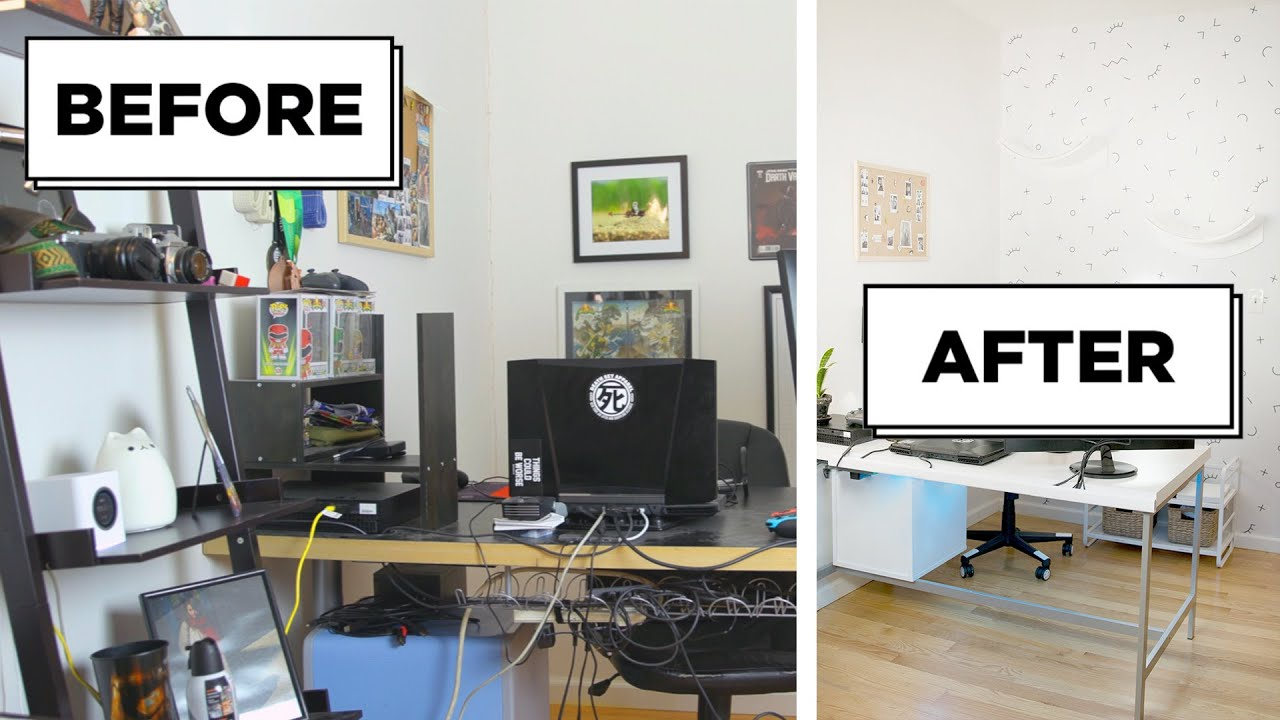 Dream home office Amazing Modern Gamers Dream Home Office Makeover Youtube Gamers Dream Home Office Makeover Youtube