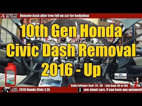10th Gen (2016 And Up) Honda Civic Dash Removal Guide