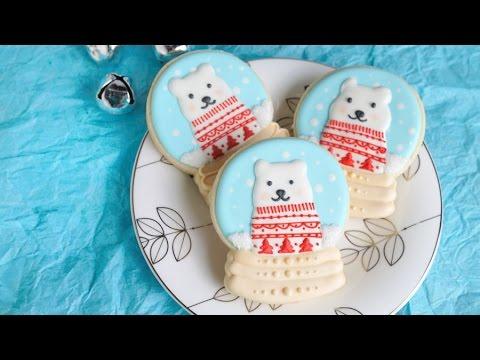 Polar Bear Snow Globe Cookies Haniela S