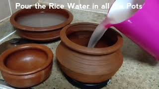 How to use new Mud Pots for cooking Seasoning of Mud Pots