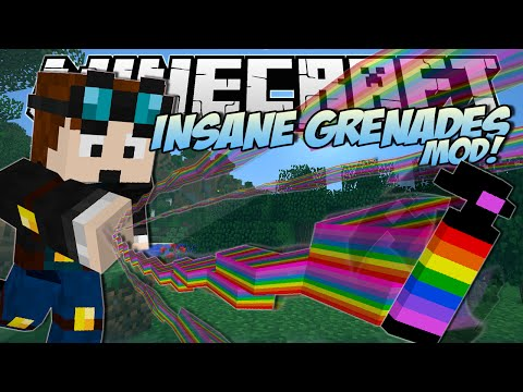 Minecraft | INSANE GRENADES MOD! (Rainbows, Black Holes, Floating Islands & More !) | Mod Showcase