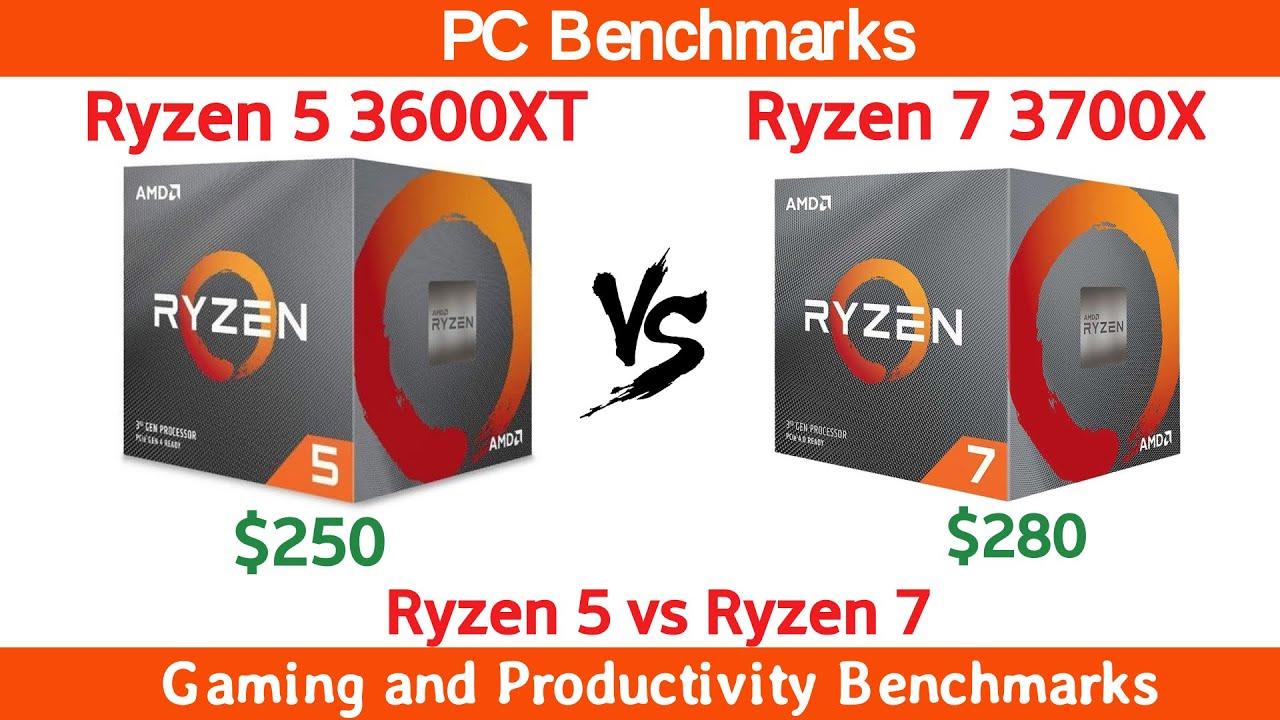 Ryzen 5 3600XT vs Ryzen 7 3700X Benchmarks