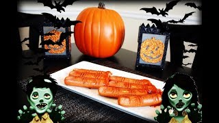 HOW TO MAKE EASY HALLOWEEN HOT DOGS,