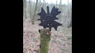 коп по войне в лесах Западной Украины / немецкие позиции/ хр deus