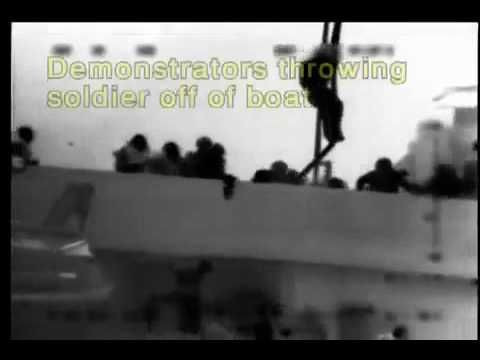 Gaza Flotilla Mavi Marmara Unarmed Peace Activists Attack IDF Soldiers.flv