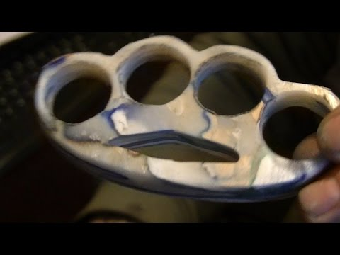 how i made plastic knuckle dusters with hdpe 2 its a knock out