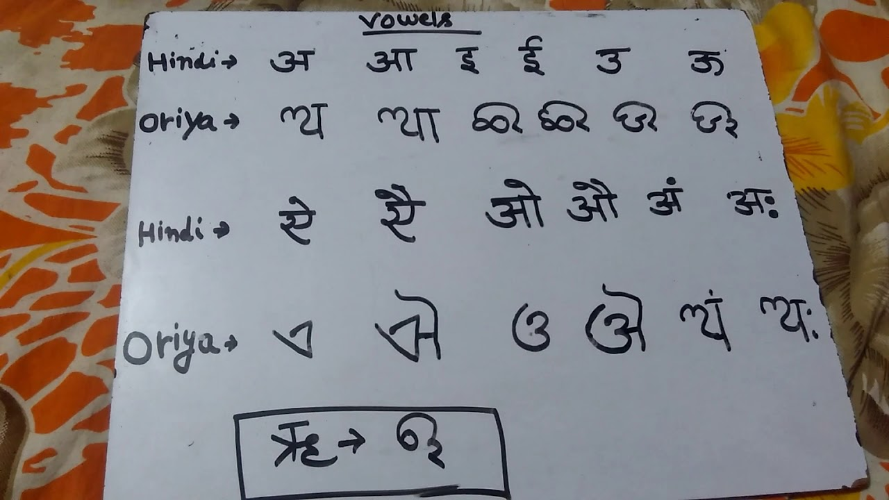 Hindi Alphabets Vowels hindi t
