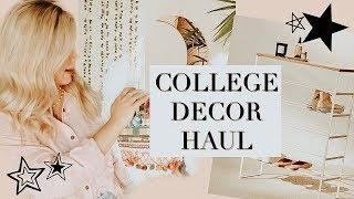 college apartment haul 2018   decor and furniture