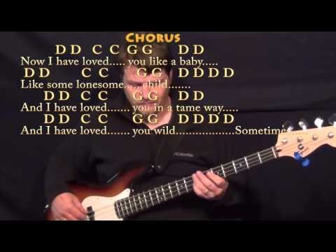 Seven Bridges Road (The Eagles) Bass Guitar Cover Lesson with Chords/Lyrics