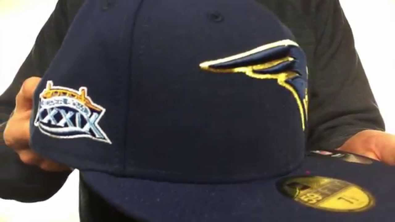 1086b09dd Patriots 'SUPER BOWL XXXIX GOLD-50' Navy Fitted Hat by New Era - YouTube