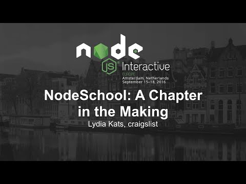 NodeSchool: A Chapter in the Making - Lydia Kats, craigslist