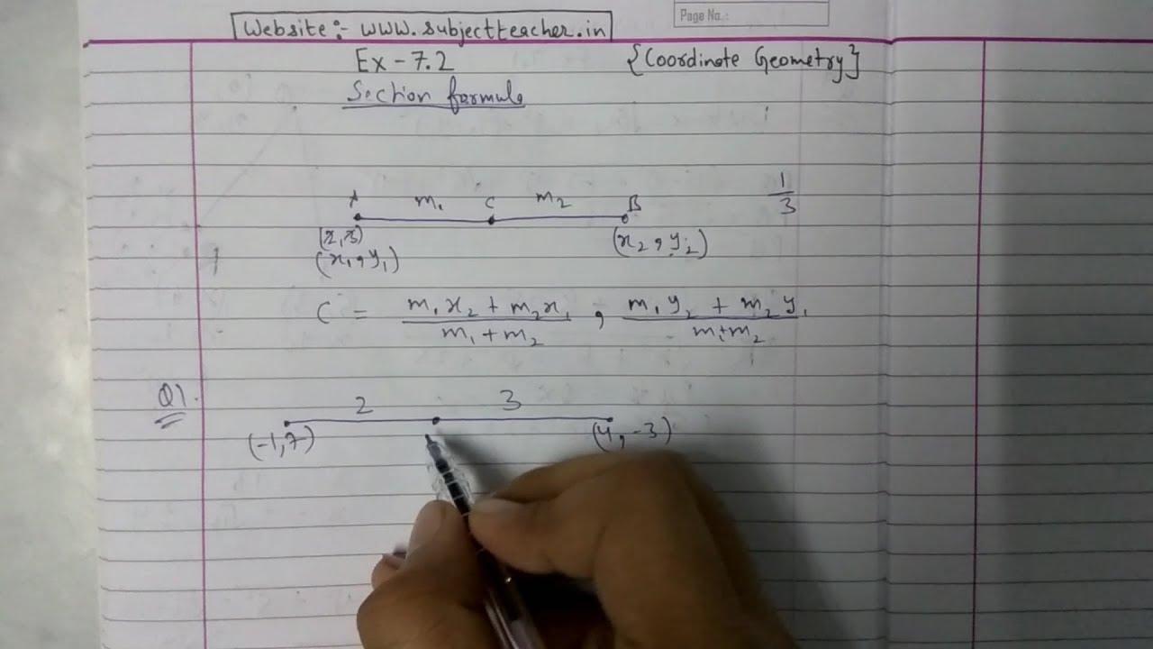 Chapter 7 Exercise 7 2 (Q1 Q2 Q3) Coordinate Geometry Class 10 Maths  ||NCERT CBSE