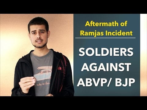 Soldiers against ABVP / BJP (Aftermath of Gurmehar / Ramjas college row) + Announcement