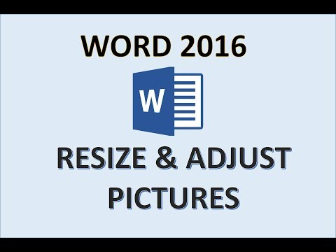 Word 2016 - Resize Pictures - How To Adjust Picture Image Photo Size - Change And Enlarge In MS 365