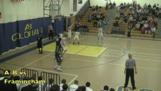 Acton Boxborough Varsity Boys Basketball vs Framingham 2/19/12