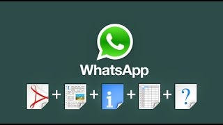 How to Share/Send Files on Whatsapp!