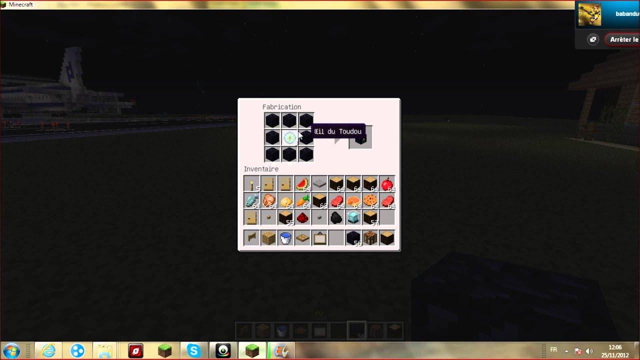 Minecraft tuto comment faire un coffre de toudou ender chest youtube - Faire un lit minecraft ...