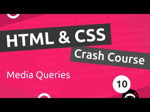 HTML & CSS Crash Course Tutorial #10 - Intro To Media Queries