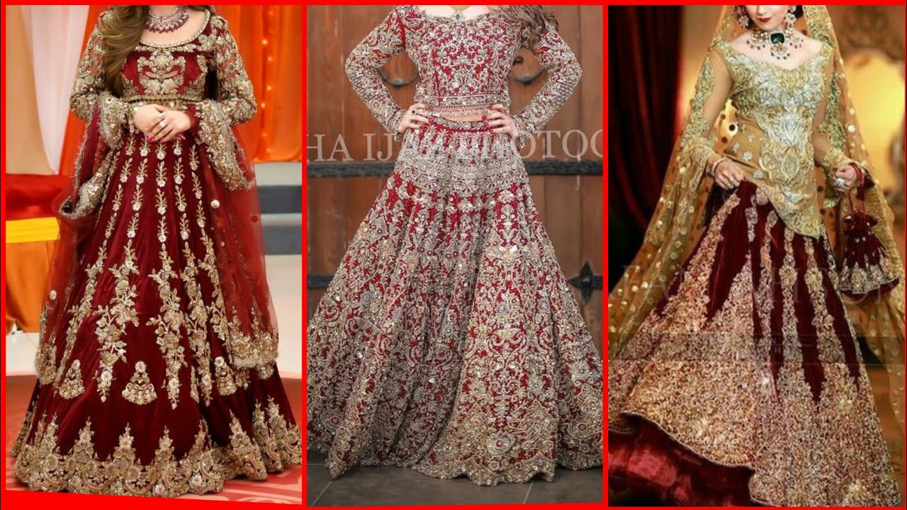Pakistani Red Golden Embroidered Bridal Lehenga Designs 2020 For Wedding By Fashion Forever Youtube