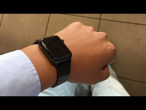 super popular e2ee2 dab78 Unboxing Apple Watch 42mm Space Black Stainless Steel