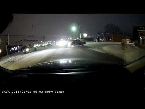 Motherf**ker almost causes a crash on snowy roads. (Language warning)