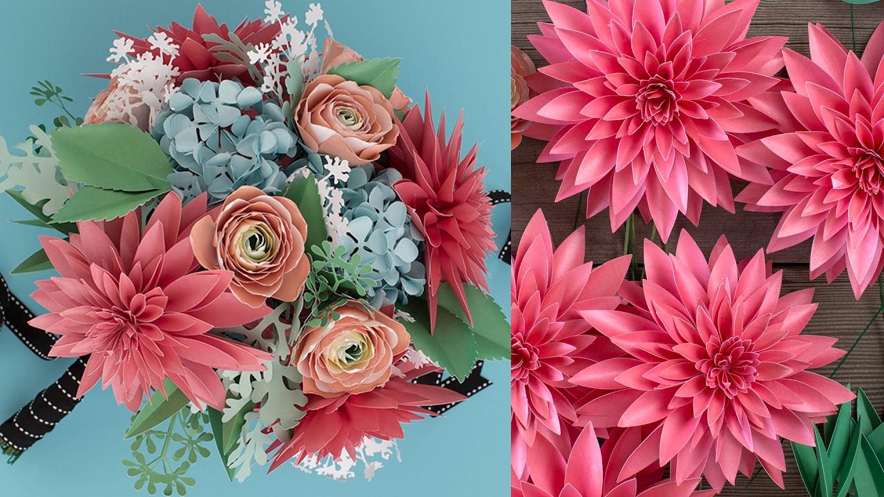 How To Make A Paper Flower Bouquet Dahlia